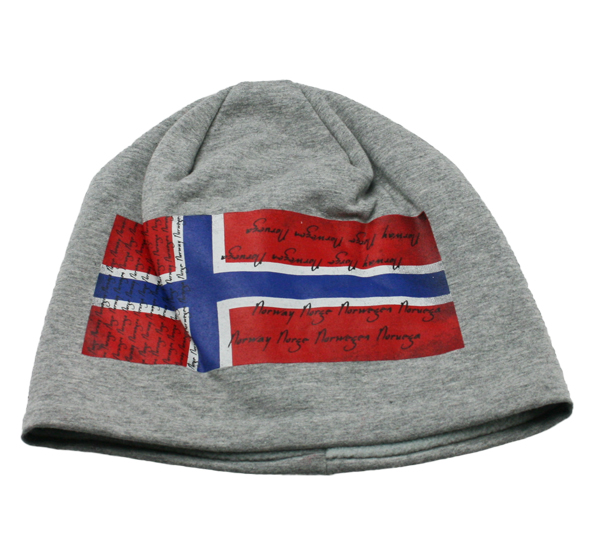 0e5970c2 Lue grå med norsk flagg. - Brødrene Flaarønning AS Nettbutikk